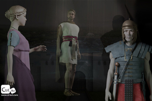 historical reconstructions of 1st century A.D. Roman clothing and accessories